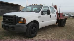 2006 Ford F350 Crew Cab Flatbed Truck | Item G5685 | SOLD! M...