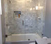 shower wall panels tile effect ideas frameless hinged tub door in