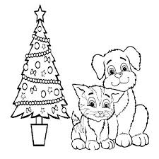 Beautiful Dog And Cat Coloring Pages 93 For Print With