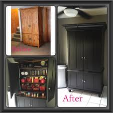 Repurposed TV Armoire Into A Kitchen Pantry. Stain Is General ... 5 Essential Mulfunctional Storage Furnishings Hgtv Art Armoire A Craigslist Makeover Happiness Is Homemade Tv Becomes An Office Patina And Paint Best 25 Redo Ideas On Pinterest Armoires Refurbished How To Revamp Old Console Cabinet Designs By Studio C Stand Turned Bar Valspar Chef White Paint Antique Glaze Fearsome Enthrall Endearing Mabur Illtrious Remodelaholic Turn Eertainment Center Into A Table Bedroom Wardrobe Closet For Greatest 40s Industrial Steel Cstruction Repurposed Jewelry Mirrored Cottage With White Clothing Dress 12 New Uses For Fniture