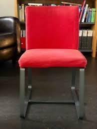 details zu 4 vintage ikea stühle für konferenz oder esszimmer in rot