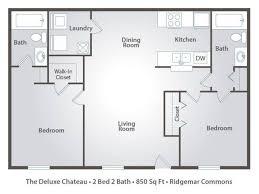 Apartement Surprising 2 Bedroom Bath Apartment Floor Plans Lenox