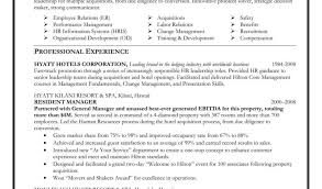 Hotel Manager Resume Sample For Management Fresher With Hr