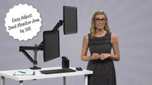 Desk Mount Monitor Arm Dual by 3m Dual Monitor Arm Youtube