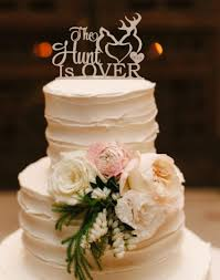 Wedding Cake Topper The Hunt Is Over Deer Buck And Doe Rustic Wood Silver Gold Truck Cakes Weddbook Best Birthday To Make Beach Themed Picture Moist Banana