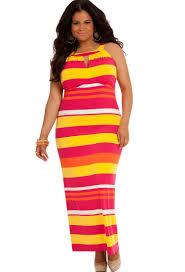 yellow plus size maxi dress pluslook eu collection