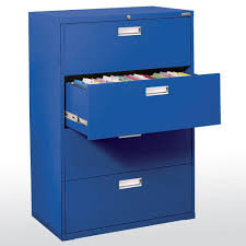 Hon 2 Drawer 36 Lateral File Cabinet by Sandusky 800 Series Blue File Cabinet Lf8f425 06 The Home Depot