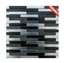 new design edelstahl mix stein muster fliese ideen für küche und tv backs plash wand metall mosaik buy streifen edelstahl mix stein muster