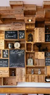 Retail Display Mixing Salvaged Wooden Box And Chalk Boards
