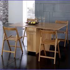 table de cuisine pliante avec chaises integrees valdiz
