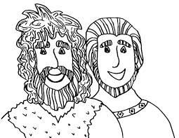 Jacob And Esau Reunite Coloring Page Steals Esaus Birthright