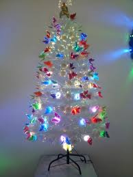 Small Fiber Optic Christmas Tree With Ornaments by 5ft 150cm White Charming Fiber Optic Christmas Tree With Angel Top