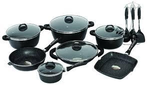schumann cuisine schumann professionnel sba2202700 black rock lot de 27 pièces