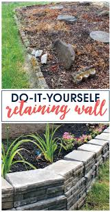 Perforated Drain Tile Menards by Best 25 Building A Retaining Wall Ideas On Pinterest Diy