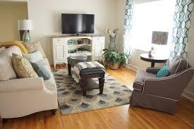 Floors & Rugs Glam Coastal Peacock Rug For Modern Living Room Decor