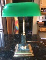 Vintage Bankers Lamp Ebay by Vintage Banker U0027s Lamp Black Glass Marble With Brass Desk Lamp