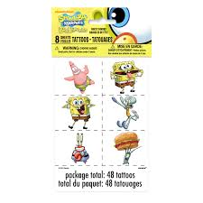 Spongebob Halloween Dvd Walmart by Spongebob Squarepants Tattoos 48ct Walmart Com
