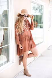 Embroidered Dress For Fall I Love The Cute Color Of Too