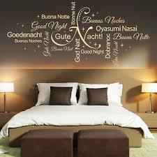 wandtattoo gute nacht wortwolke sprachen schlafzimmer