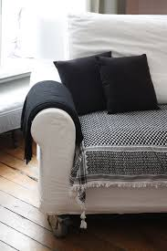 plaid sur canapé plaid de canapé intérieur déco