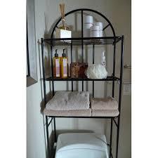 Mainstays Bathroom Space Saver by 3 Shelf Over The Toilet Bathroom Space Saver Storage Cabinet
