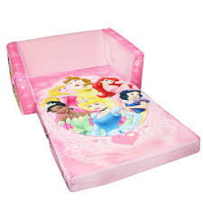 marshmallow disney princess flip open sofa with slumber toys