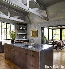 Awesome Modern Rustic Kitchen Designs 76 On Home Office Decorating Ideas With