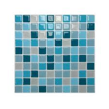 smart tiles 10 in x 10 in multi colored peel and stick lagoon