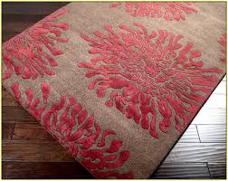 Incredible Red And Blue Area Rug Coral Home Design Ideas Intended
