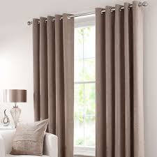 Bendable Curtain Track Dunelm by Taupe Chenille Lined Eyelet Curtains Dunelm Curtains