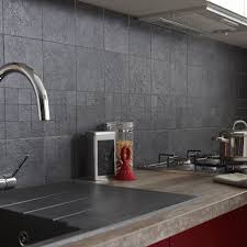 refaire plan de travail cuisine carrelage carrelage sol et mur anthracite vestige l 15 x l 15 cm leroy merlin