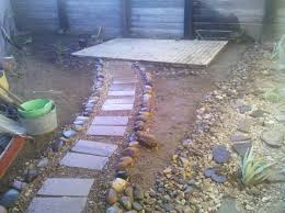 Backyard Revamp (Part 1) – Stepping Stones   Fox.and.hammer Garden With Tropical Plants And Stepping Stones Good Time To How Lay Howtos Diy Bystep Itructions For Making Modern Front Yard Designs Ideas Best Design On Pinterest Backyard Japanese Garden Narrow Yard Part 1 Of 4 Outdoor For Gallery Bedrock Landscape Llc Creative Landscaping Idea Small Stone Affordable Path Family Hdyman Walkways Pavers Backyard Stepping Stone Lkway Path Make Your