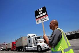 100 Martinez Trucking LA Long Beach Port Truck Drivers Launch Protest Allege