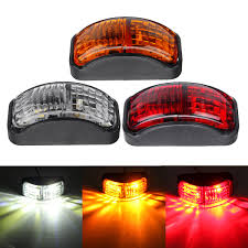 100 Truck Clearance Lights 2smd Led Side Marker Lights Clearance Lamp 1230v 54x24mm E4 Red