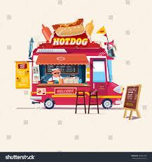 100 Hot Dog Food Truck Royaltyfree Dog Street 369027284 Stock