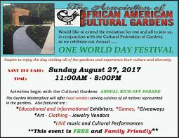 Association of African American Cultural Gardens Home