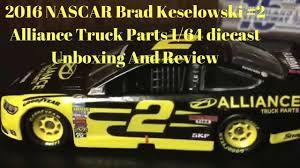 2016 NASCAR Brad Keselowski #2 Alliance Truck Parts 1/64 Diecast ...