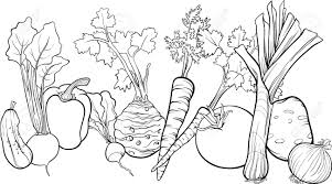 Photo Black And Interest Vegetable Coloring Book