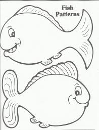 Coloring Pages For Kids Online Fish Template Printable In Plans Free Gallery Ideas