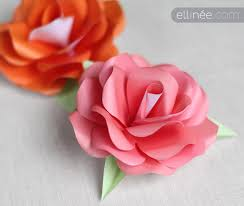 How To Make Paper Roses Tutorial With Free Template