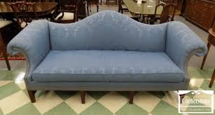 camelback slipcovered sofa restoration hardware hickory chair large sized blue chippendale camelback sofa