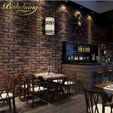 Beibehang Rustic Brick Stone Wallpaper For Living Room Chinese PVC Roll Papel De Parede