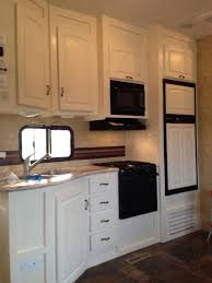 Zep Wet Look Floor Finish Rv by Rv Cabinets Makeover With Ascp In Old White With Clear Wax Rv