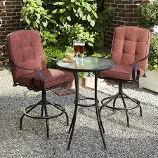 Jaclyn Smith Cora 3pc High Bistro Set - Red   Shop Your Way: Online ... Pub Tables Bistro Sets Table Asuntpublicos Tall Patio Chairs Swivel Strathmere Allure Bar Height Set Balcony Fniture Chair For Sale Outdoor Garden Mainstays Wentworth 3 Piece High Seats Www Alcott Hill Zaina With Cushions Reviews Wayfair Shop Berry Pointe Black Alinum And Fabric Free Home Depot Clearance Sand 4 Seasons Valentine Back At John Belden Park 3pc Walmartcom