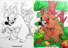 Coloring Book Corruptions Bear Hug