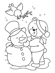 Snowman Pictures To Print Images Winter Coloring Pages Snow Man Free Printable