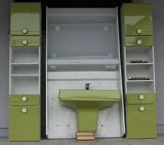 badmöbel waschbecken badschrank badezimmer einrichtung grün 70er jahre ebay