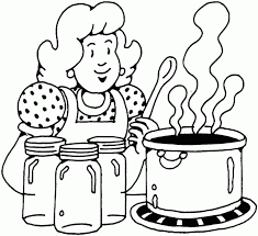 Woman Cooking Canning