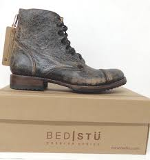 bed stu cobbler protege lace up boots black lux 45500701 man s