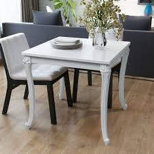 vidaxl esstisch esszimmertisch küchentisch küche tisch vierfußtisch esszimmer tisch 80x80x76 cm hochglanz weiß